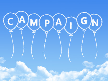 Cloud shaped as campaign Message