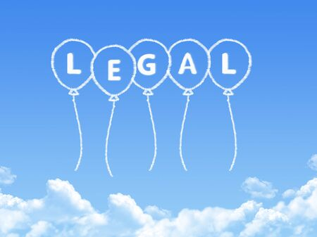 governing: Cloud shaped as legal Message
