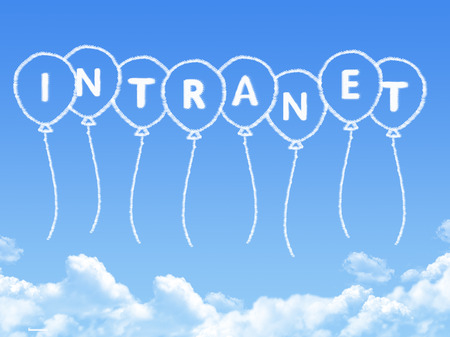 intranet: Cloud shaped as intranet Message