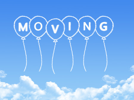 relocating: Cloud shaped as moving Message