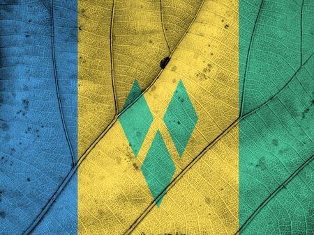 clime: Saint Vincent and The Grenadines flag leaf texture