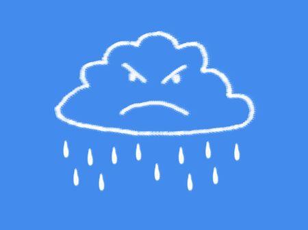 wrathful: cloud and rain cloud shape