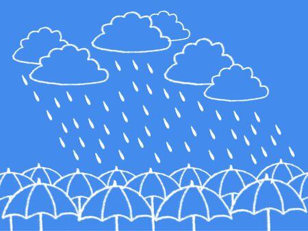 windy day: cloud and rain cloud shape