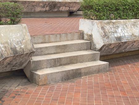 escalera: escaleras en el jardín Foto de archivo