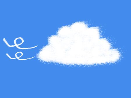 windy day: cloud shape Stock Photo