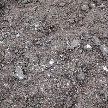 waterless: Fresh soil background closeup
