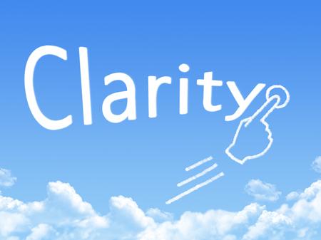 clarity message cloud shape