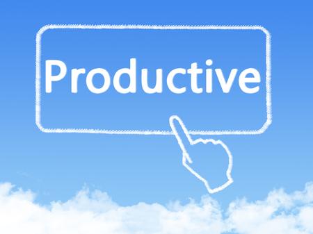 productive: productive message cloud shape Stock Photo