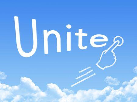 unite: unite message cloud shape