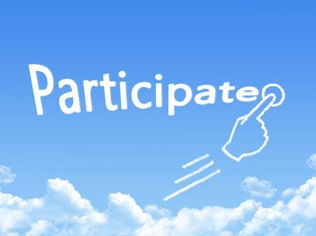 participate: participate message cloud shape