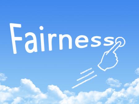 fairness: fairness message cloud shape