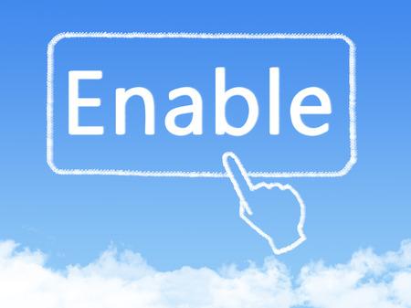 enable: enable message cloud shape