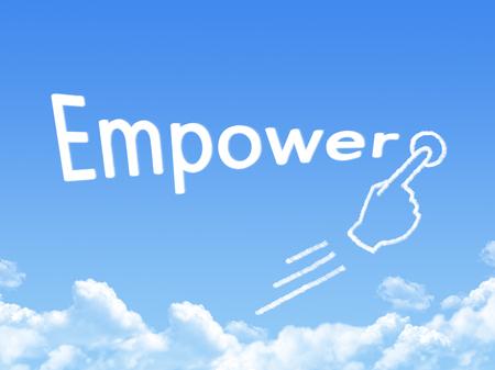 empower: empower message cloud shape Stock Photo