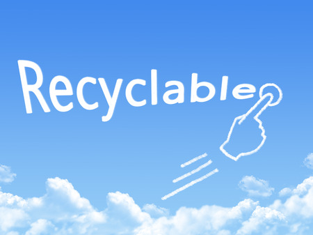 reciclable: recyclable message cloud shape