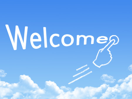 message cloud: welcome message cloud shape Stock Photo