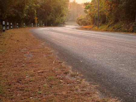 curve road: curve asphalt road view