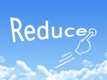 reduce: reduce message cloud shape Stock Photo