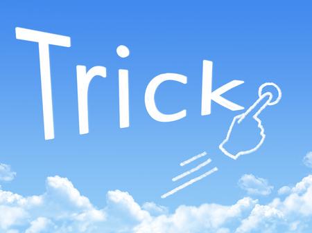 trick message cloud shape