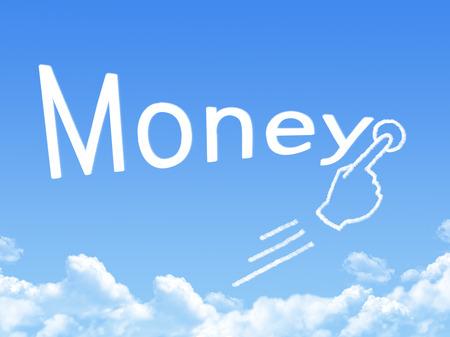 money message cloud shape
