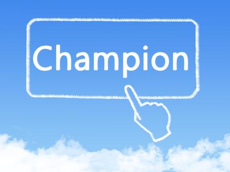 champion message cloud shape