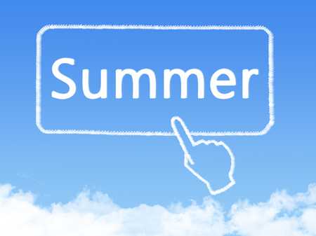 message cloud: summer message cloud shape Stock Photo