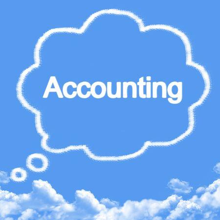 accounting cloud shape Standard-Bild