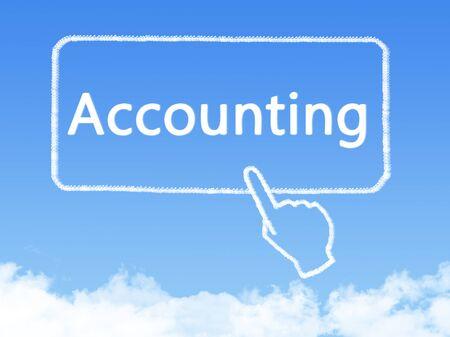 accounting cloud shape Stock Photo