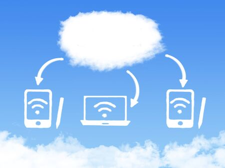 cloud technology: Cloud computing technology abstract Stock Photo