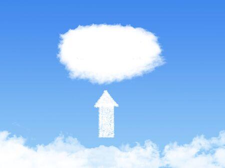 cloud technology: Cloud upload technology abstract