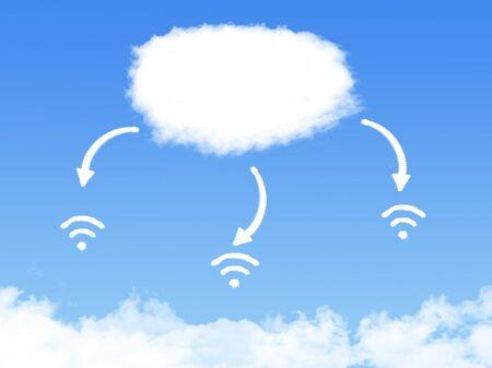 cloud technology: Cloud wifi technology abstract