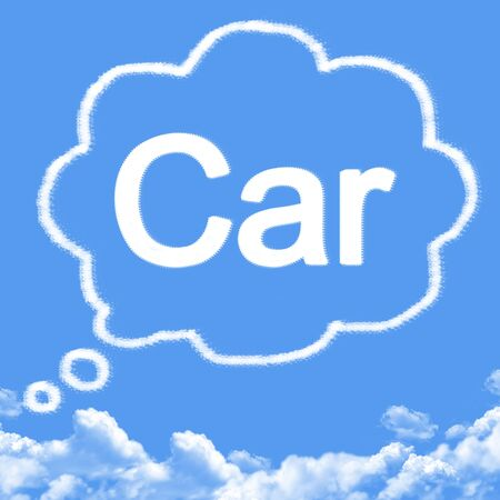 dream car: Nube en forma de coche de sue�o