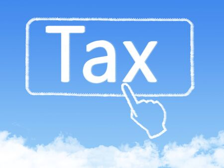message cloud: tax message cloud shape Stock Photo