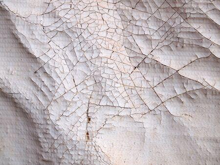 vandalism: crack dirty plastic