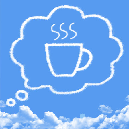 cloud shape: think coffee cloud shape