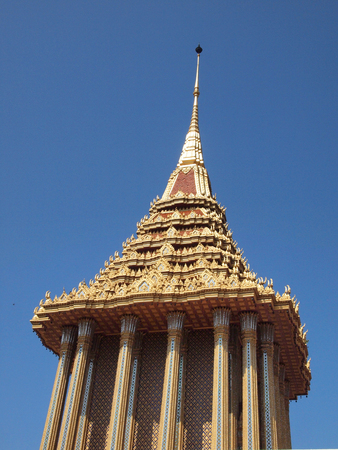 gable: beautiful gable of the famous temple