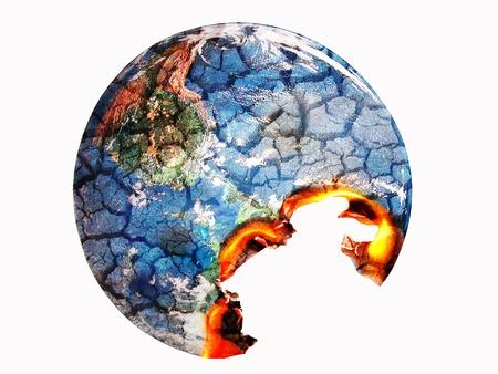 global environment: Global Warming - environment concept Stock Photo