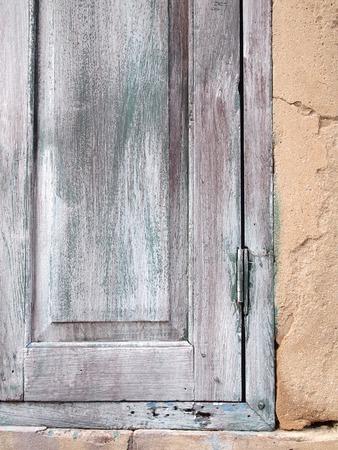 old wood window close up