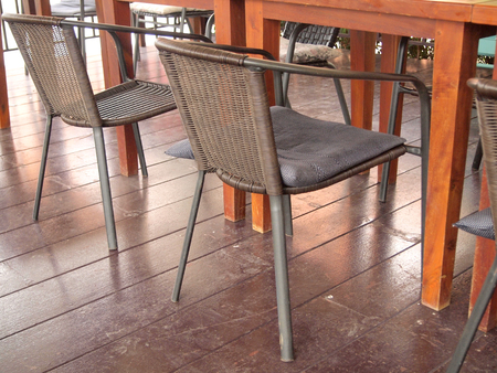 dining table and chairs: Modern interior of a dining table and chairs