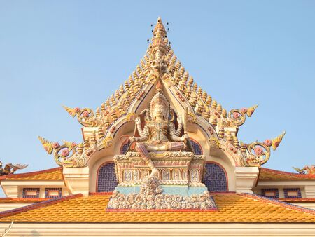 beautiful gable of the famous temple