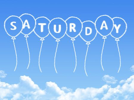Cloud shaped as saturday Message
