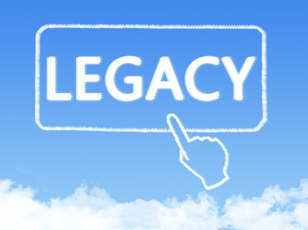 Cloud shaped as legacy Message Stock Photo