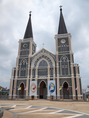 Chanthaburi, Thailand April 6, 2016: Old cathedral of the Immaculate Conception in Chantaburi, Thailand
