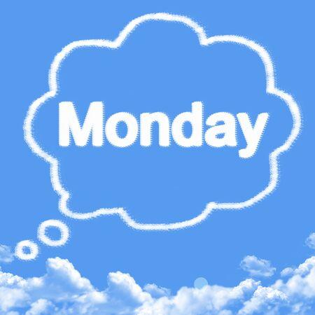 forme: monday cloud shape Banque d'images