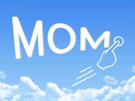 forme: mom cloud shape Banque d'images