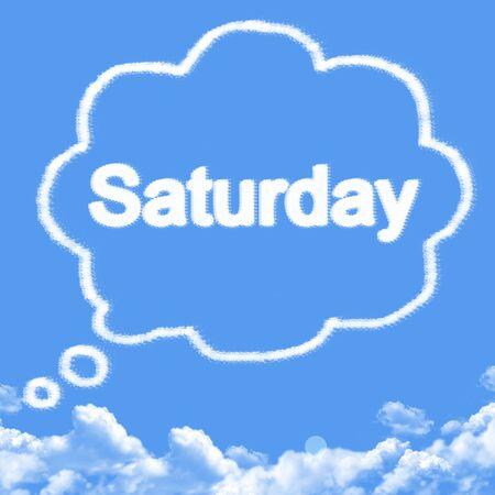 saturday cloud shape
