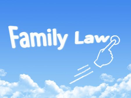 Cloud shaped as family law Message