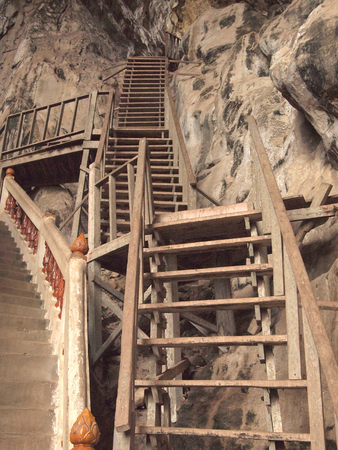 stair in cave Stock Photo
