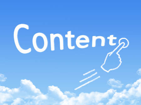 Cloud shaped as content Message