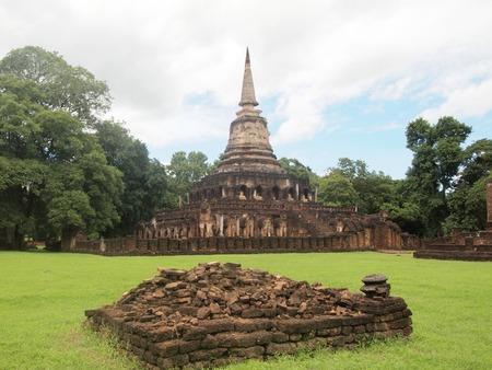 Ruins of ancient temples at Sukhothai Historical Park, Thailand