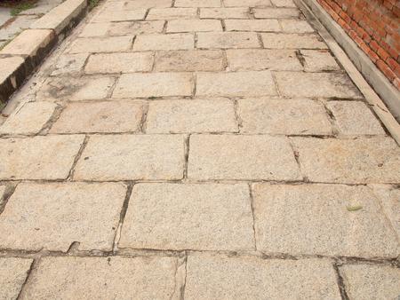 curve road: Stone pathway Stock Photo